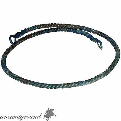 Museum Quality Viking Ropework Style Bronze Neck Torc Circa 1000 Ad