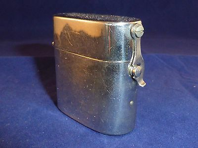 Unusual Antique Victorian Chrome Plated Travelling Inkwell & Original Liner