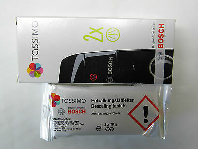 Descaling Agent Tassimo Original Bosch TCZ6004 in Pack de 2 x 2 Tablets