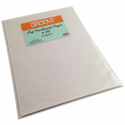CLARITY STAMP GROOVI A4 Parchment Paper x 20 sheets 140gsm GRO-AC-40024-A4