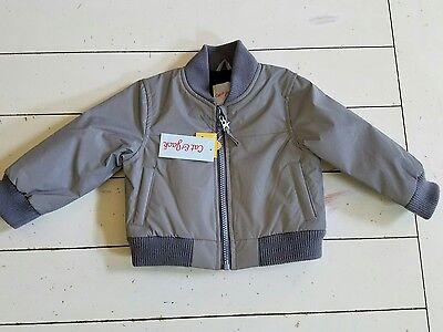 Boy's Bomber Jacket by Cat &Jack size 12M Gray