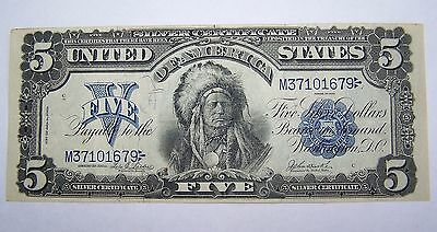 1899 $5 Dollar Indian United States Silver Certificate Large Bill Legal Tender