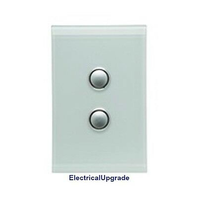 Clipsal Switches Saturn Offer 2Gang Grid &Plate Less Mech 4062VH Avail in colors