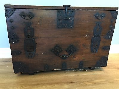 Antique 19th C. Korean Blanket Storage Chest, Tansu