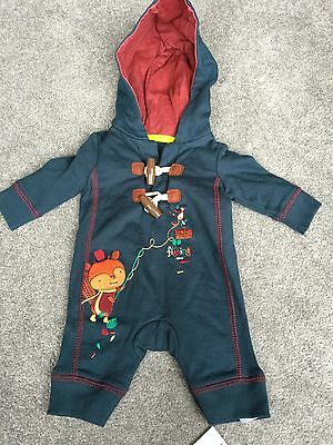 New Tiny Baby Boy Outfit RRP £8 With Tags BNWT Hooded