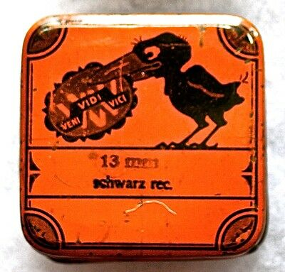 Angry Black Crow Typewriter Ribbon Tin--German