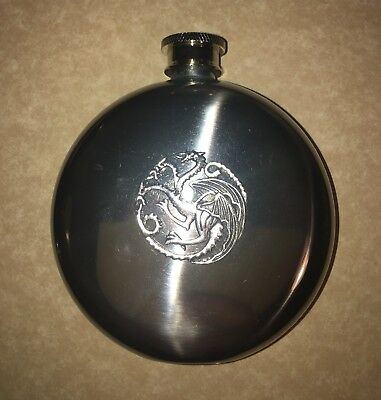 5 Oz Flask Inspired By Game Of Thrones House Of Targaryen Fire And Ice Gift