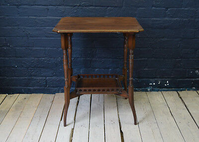 Stunning Ornate Antique Mahogany Occasional Side Hall Table