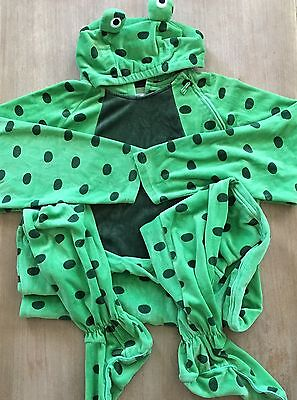 Jumpin Jammerz Fuzzy Frog Adult Unisex M Footed Hoodie Pajamas One-piece Costume
