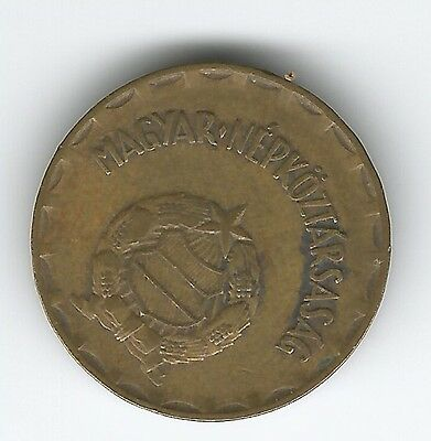 1975 Hungary Magyar 2 Forint brass coin  from Communist era - UK postage  free