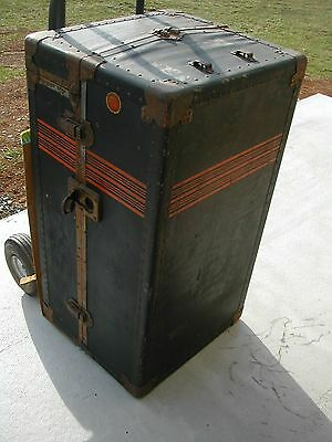 Steamer Wardrobe Valet Travel Trunk BAL FIBRE FIFTY A.W. DAVIS LANCASTER, PA