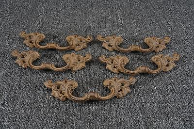 "Vintage Metal Antiqued 6.75"" Drawer Pulls Lot Of 5"