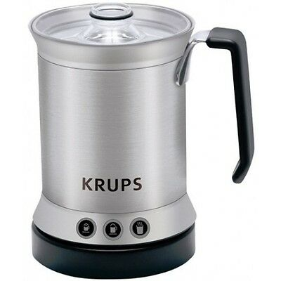 Krups Brushed Stainless Steel Milk Frother XL200044  300ml - New - Free Shipping