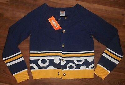Gymboree Size Girls L 10 12 Blue Yellow Long Sleeve Button Front Sweater NWT $37