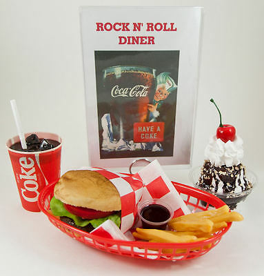 Coca Cola Cheeseburger Lunch/with Menu And Sundae