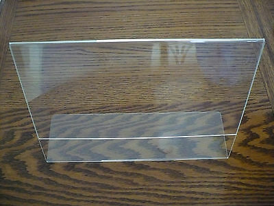 "1 CASE Clear Slant Back Table Tent / Ad Frame.  11""W x 8.5""H - LHA-1185E  25 LOT"
