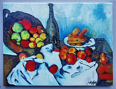 A.W (Fruit Bowl) Oil Painting