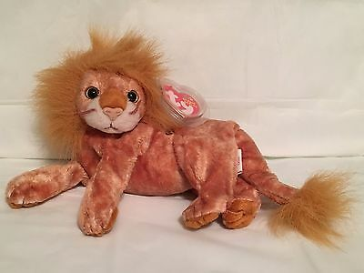 TY Beanie Baby - ORION the Lion - Pristine with Mint Tags - RETIRED