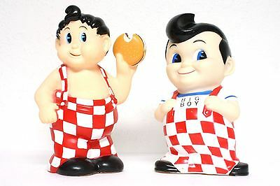 1936 Retro Big Boy Bank Rare Lot x2 Vinyl Figures Advertising Hamburger vtg pair