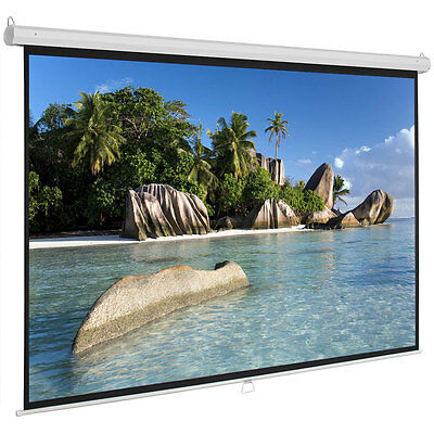 """100"""" 16:9 Manual Pull Down Projection Screen Home Theater Movie 87""""x49"""""""