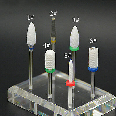 Pro Drill Bit Ceramic Nails Bullet Bits For Manicure Pedicure Bits Nail Bit Tool