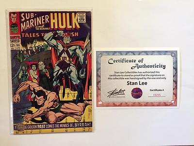 Sub-Mariner & The Incredible Hulk 90 Signed Stan Lee 1St Abomination Astonish