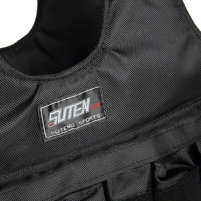 1PC Black Jacket Vest SUTEN Loading Weighted For Boxing Training Equipment 50kg