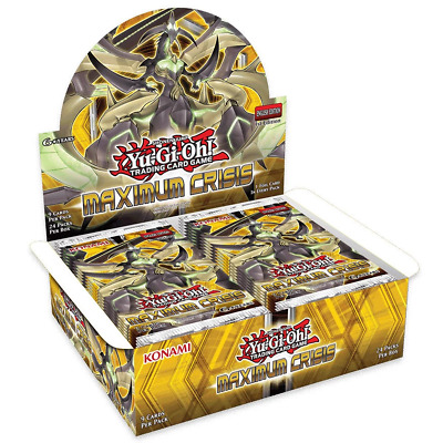 YU-GI-OH! TCG Maximum Crisis Booster Box 24 Booster Packs Included Trading Card