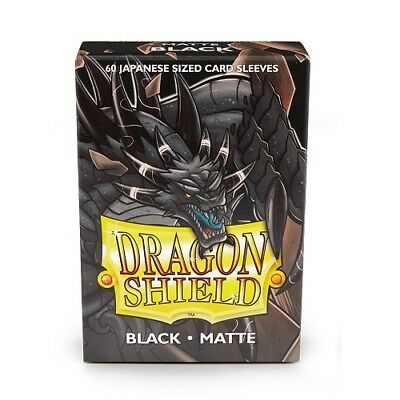 Dragon Shield 60 Japanese size Deck Protector Sleeves Matte Black AT-11102 Small
