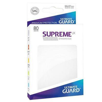 Ultimate Guard Supreme UX Transparent Sleeves Standard Size 80 Per Pack 66 x 91m