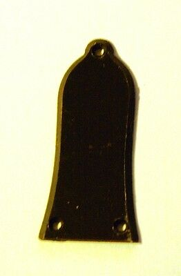 Guitar Truss Rod Cover, (Bell),  Black Plastic with screws. NEW