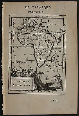 Ancient African Continent 1683 Manesson Mallet Scarce Antique Copper Engravedmap