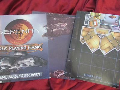 *VERY RARE* SERENITY RPG Game Masters Screen & Firefly deck plan