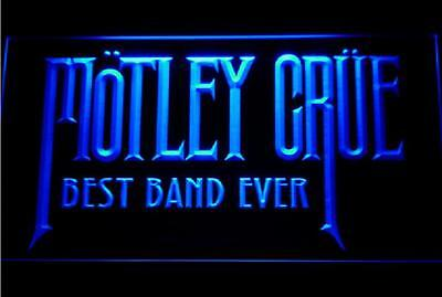 Best Band Ever Motley Crue BLUE LED Neon Sign with On/Off Switch **BRAND NEW**