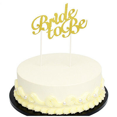 Bride to be Cake Topper Decorations  Supplies Accessories Gold Glitter Paper