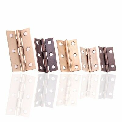 CHOOSE SMALL-LARGE Brass/Antique BUTT HINGES Cupboard Cabinet Wood Furniture