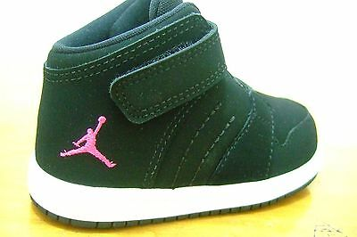 Original Toddler Infant Girls Nike Jordan 1 Flight 4 Premium Velcro Trainers 009