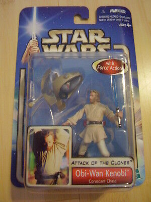 Star Wars Action Figure Obi-wan Kenobi Attack of the Clones Collection 1 #03