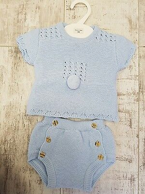 Spanish Baby boys  Knitted Top Shorts Set 2 Piece   9 month