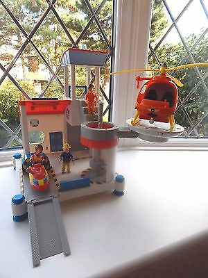 Fireman Sam Ocean Rescue Playset With Jet Ski And Rescue Helicopter + 3 Figures