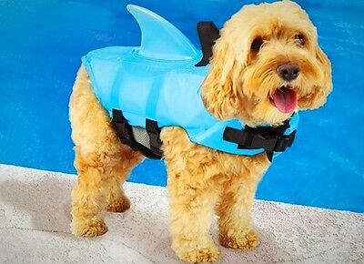 Small Dog Life Vest Preserver Fin Swimming Full Body Safety Water Pool Beach New