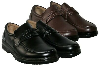 Mens Black And Brown Slip On Lightweight Smart/casual Dress Shoe Size 6-12