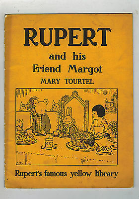 RUPERT and his Friend Margot - Famous Yellow Library 1940s Mary Tourtel