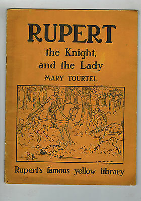 RUPERT the Knight and the Lady - Famous Yellow Library 1940s Mary Tourtel