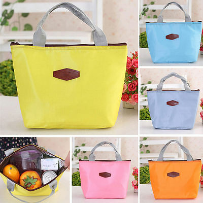 Waterproof Portable Picnic Insulated Food Storage Box Tote Lunch Bag 9 Colors