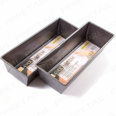 "2x Large 12"" Rectangle NON-STICK Loaf Tin Tray Fruitcake Baking Cake Bread Mould"
