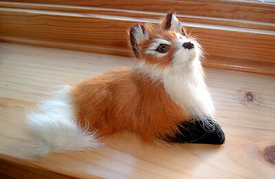 RED FOX FURRY ANIMAL REPLICA FIGURINE Toy f618 FREE SHIPPING USA