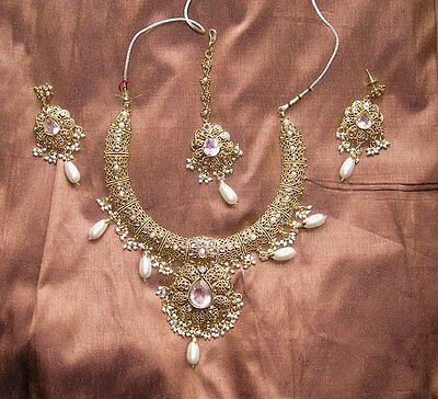 parure indienne blanche mariage bollywood