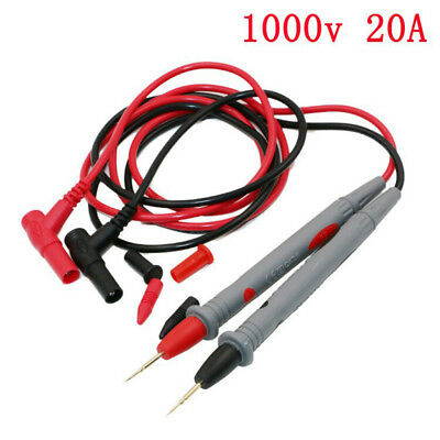 1 Pair Universal Probe Test Leads Cable For Digital Multimeter 1000V 20A