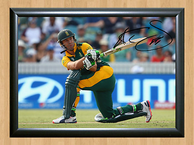 AB de Villiers Cricket World Sign Autographed A4 Poster Photo Print Memorabilia
